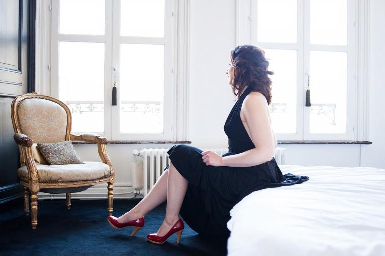 portrait glamour Lille en chambre d'hôte