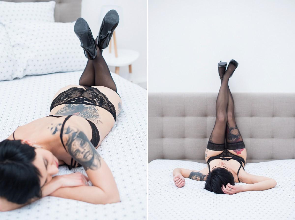 séance photo lingerie avec une femme photographe à Lille dans le Nord